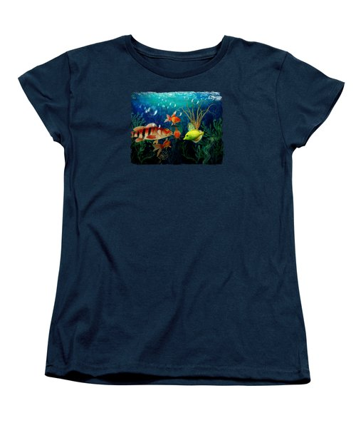 Joy To The Fishes  Women's T-Shirt (Standard Cut) by Terry Fleckney