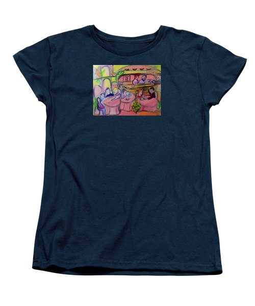 Joyful Tinkling Bells Cafe Women's T-Shirt (Standard Cut) by Judith Desrosiers