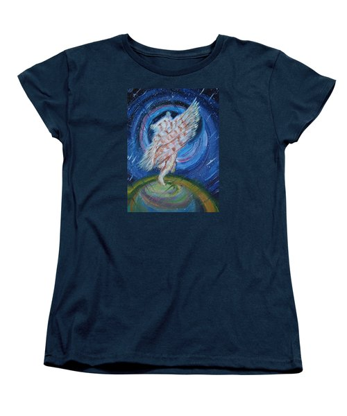 Women's T-Shirt (Standard Cut) featuring the painting Joyfully My Father Comes To See Me by Dawn Senior-Trask
