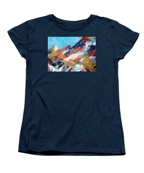 Judean Hill Abstract Women's T-Shirt (Standard Cut) by Esther Newman-Cohen