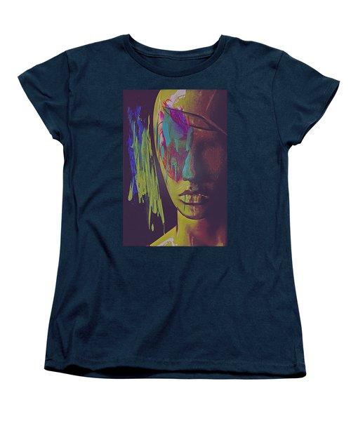 Women's T-Shirt (Standard Cut) featuring the digital art Judgement Figurative Abstract by Galen Valle