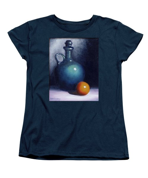 Women's T-Shirt (Standard Cut) featuring the painting Jug And Orange. by Gene Gregory