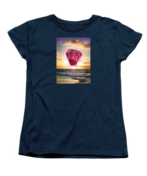July Birthstone Ruby Women's T-Shirt (Standard Cut)
