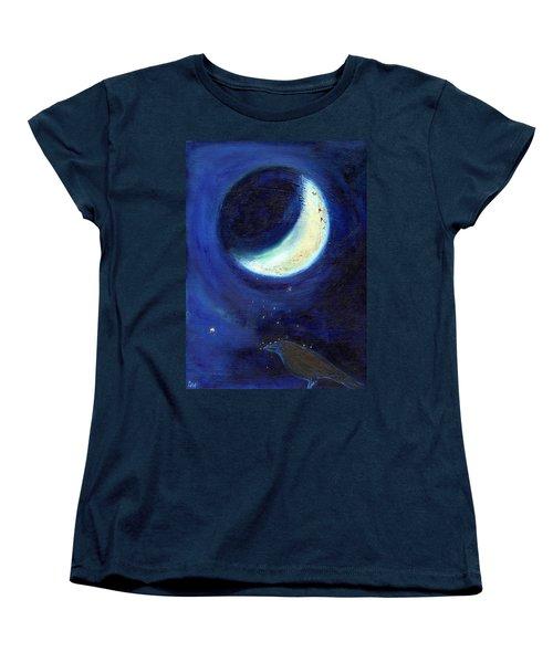 July Moon Women's T-Shirt (Standard Cut) by Nancy Moniz