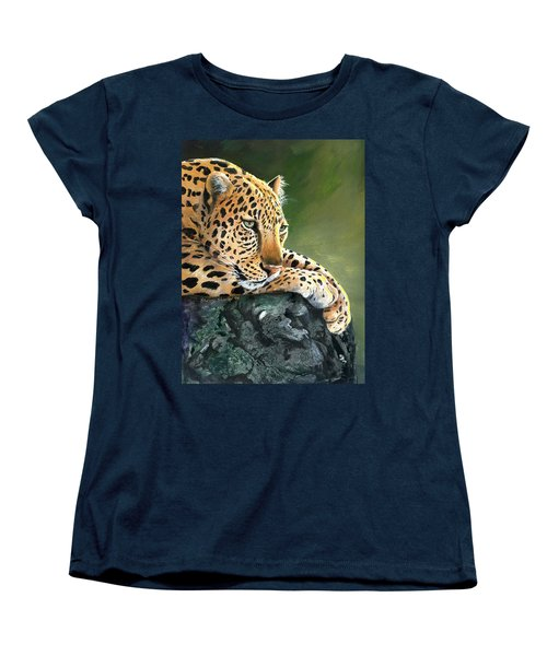 Women's T-Shirt (Standard Cut) featuring the painting Jumanji by Sherry Shipley