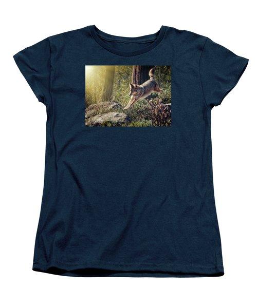 Jumping Rocks Women's T-Shirt (Standard Cut) by Elaine Malott