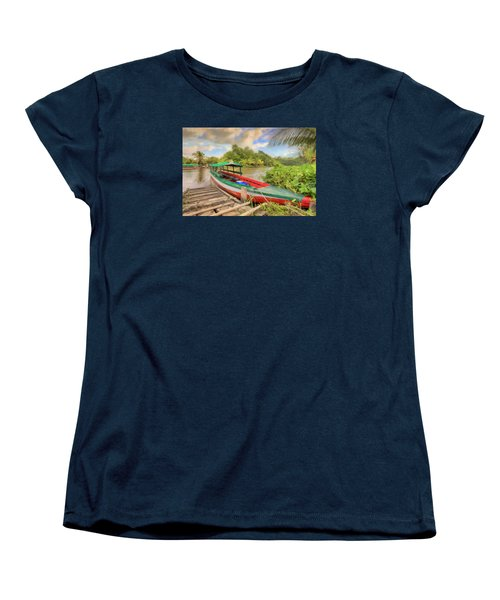 Jungle Boat Women's T-Shirt (Standard Cut) by Nadia Sanowar