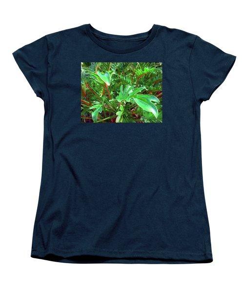 Women's T-Shirt (Standard Cut) featuring the photograph Jungle Greenery by Ginny Schmidt