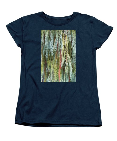 Women's T-Shirt (Standard Cut) featuring the photograph Juniper Leaves - Shades Of Green by Ben and Raisa Gertsberg