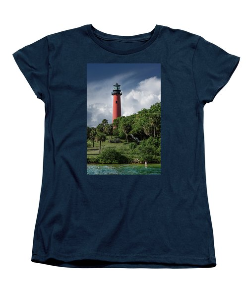 Jupiter Inlet Lighthouse Women's T-Shirt (Standard Cut) by Laura Fasulo