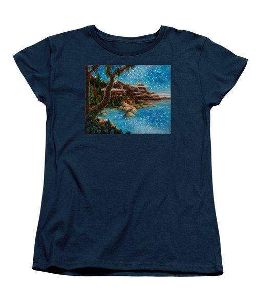 Women's T-Shirt (Standard Cut) featuring the painting Just Before Dawn by Matt Konar