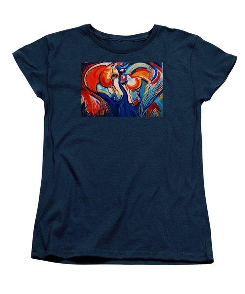 Just Horsing Around Women's T-Shirt (Standard Cut) by Nora Shepley