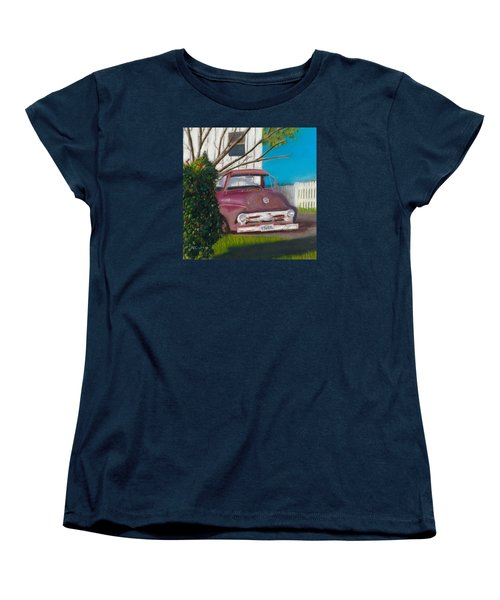 Just Up The Road Women's T-Shirt (Standard Cut) by Arlene Crafton