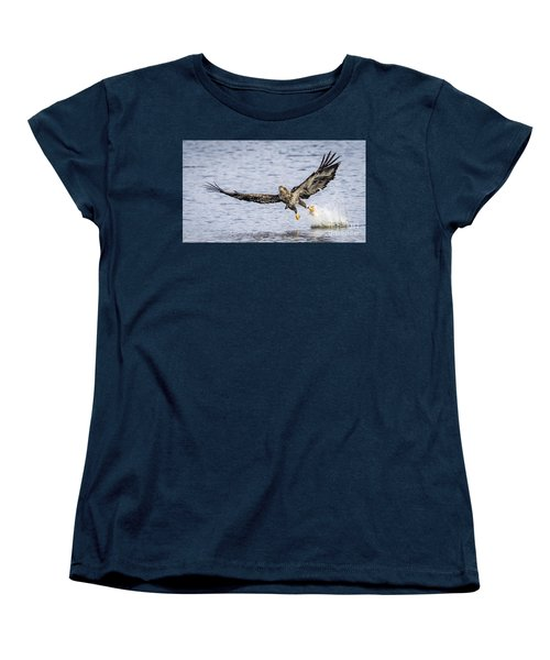 Juvenile Bald Eagle Fishing Women's T-Shirt (Standard Cut) by Ricky L Jones