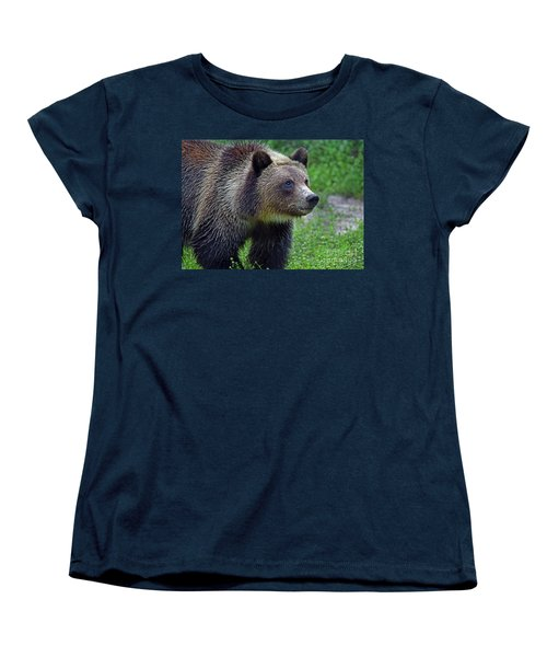 Juvie Grizzly Women's T-Shirt (Standard Cut) by Larry Nieland