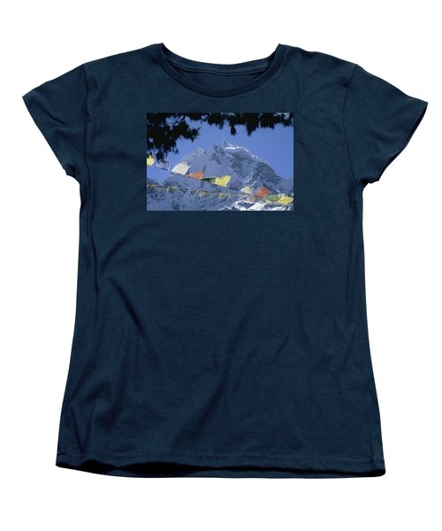 Women's T-Shirt (Standard Cut) featuring the photograph Kang Tega Nepal by Rudi Prott