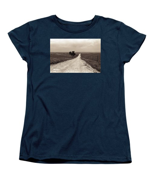 Kansas Country Road Women's T-Shirt (Standard Cut) by Thomas Bomstad