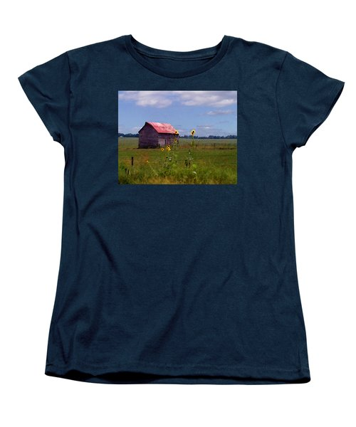 Kansas Landscape Women's T-Shirt (Standard Cut) by Steve Karol