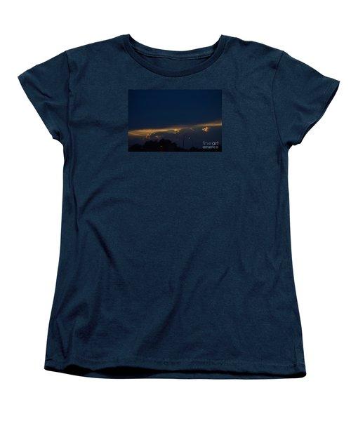 Women's T-Shirt (Standard Cut) featuring the photograph Kansas Sunset Angel by Mark McReynolds