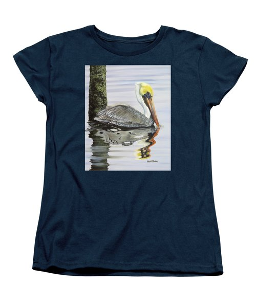 Kathy's Pelican Women's T-Shirt (Standard Cut) by Phyllis Beiser