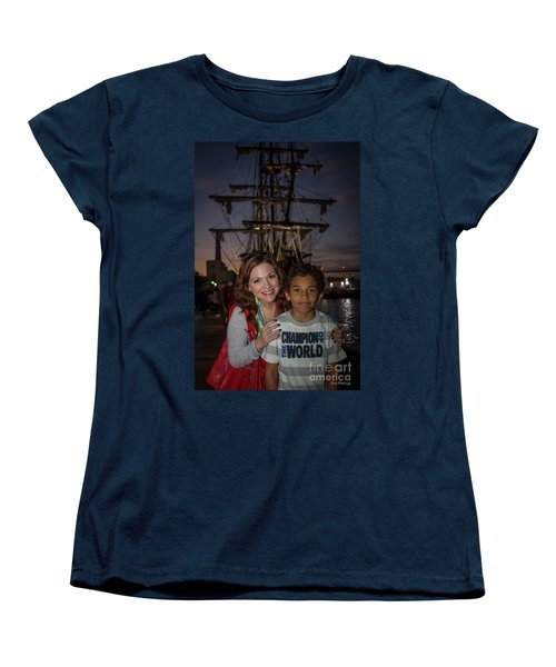Women's T-Shirt (Standard Cut) featuring the photograph Katy And Baby James Art by Reid Callaway