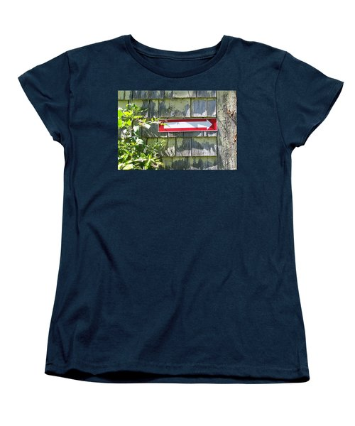 Women's T-Shirt (Standard Cut) featuring the digital art Keep To The Right by Barbara S Nickerson
