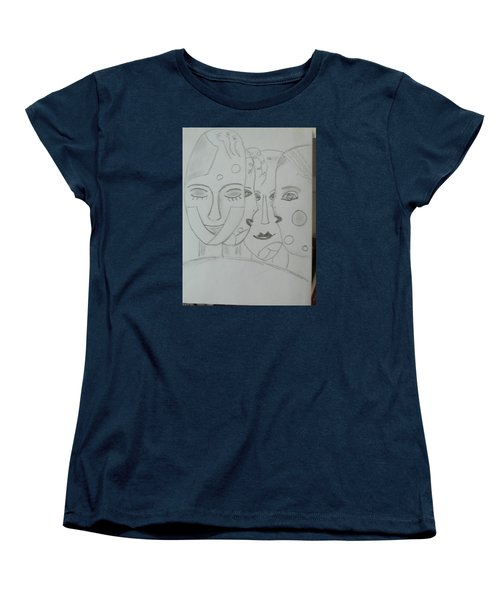 Women's T-Shirt (Standard Cut) featuring the drawing Keeper Of Secrets by Sharyn Winters