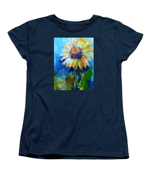 Kellie's Sunflower Women's T-Shirt (Standard Cut) by Jodie Marie Anne Richardson Traugott          aka jm-ART