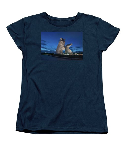 Women's T-Shirt (Standard Cut) featuring the photograph Kelpies  by Terry Cosgrave