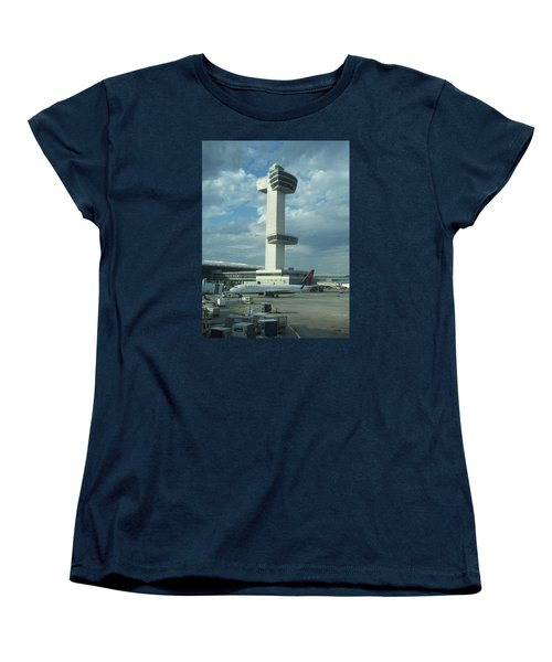 Kennedy Airport Control Tower Women's T-Shirt (Standard Cut) by Christopher Kirby