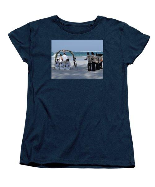 Kenya Wedding On Beach Happy Couple Women's T-Shirt (Standard Fit)