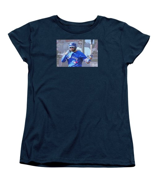 Kevin Pillar At Bat Women's T-Shirt (Standard Cut) by Nina Silver