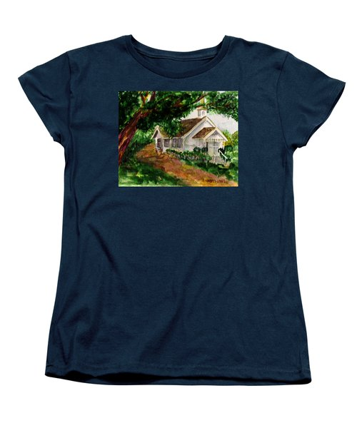 Women's T-Shirt (Standard Cut) featuring the painting Kihei Chapel by Eric Samuelson
