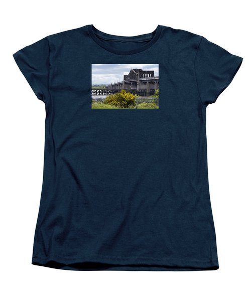 Women's T-Shirt (Standard Cut) featuring the photograph Kincardine Bridge by Jeremy Lavender Photography