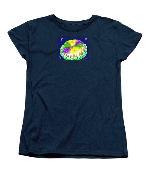 Women's T-Shirt (Standard Cut) featuring the digital art King Cake by Jean Pacheco Ravinski