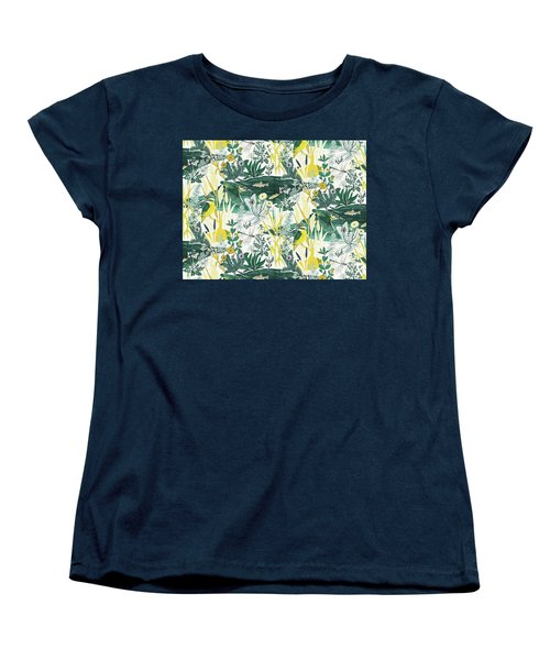 Kingfisher Women's T-Shirt (Standard Cut) by Jacqueline Colley