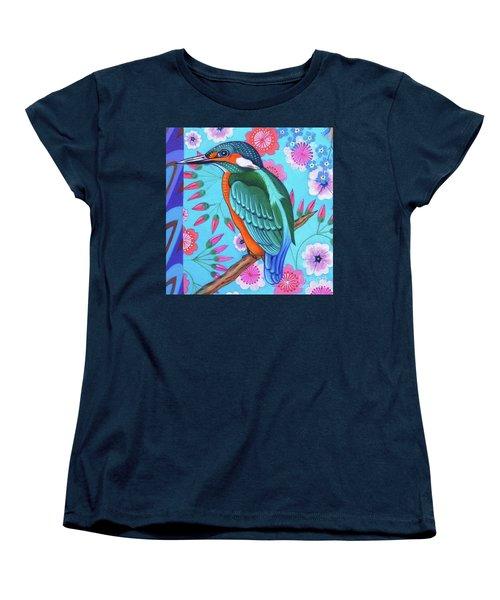 Kingfisher Women's T-Shirt (Standard Cut) by Jane Tattersfield
