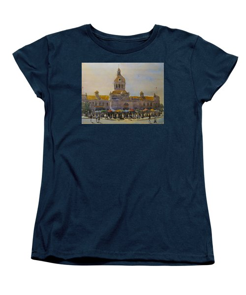 Kingston-city Hall Market Morning Women's T-Shirt (Standard Cut) by David Gilmore