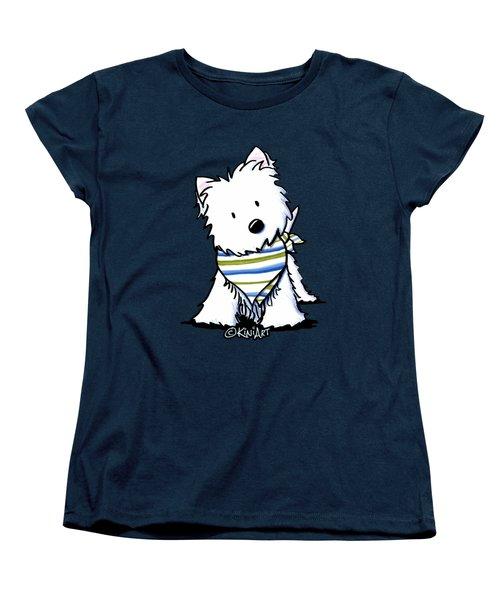 Kiniart Westie Terrier Women's T-Shirt (Standard Cut)