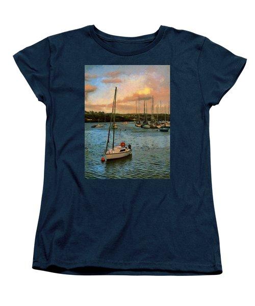 Women's T-Shirt (Standard Cut) featuring the painting Kinsale Harbour Evening by Jeff Kolker