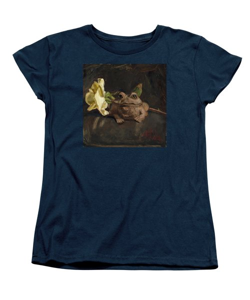 Women's T-Shirt (Standard Cut) featuring the painting Kiss Me And Find Out by Billie Colson