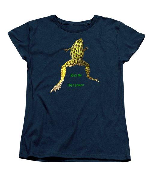Kiss Me I'm A Prince Women's T-Shirt (Standard Cut) by David and Lynn Keller