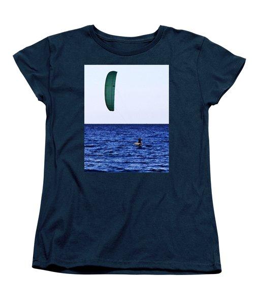 Kite Board Women's T-Shirt (Standard Cut) by John Wartman