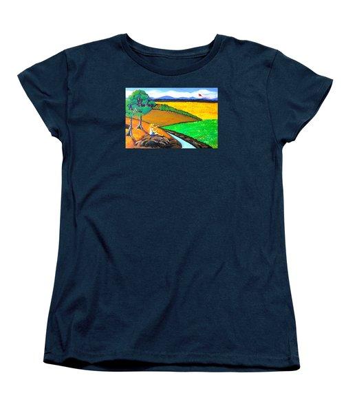 Kite Women's T-Shirt (Standard Cut) by Cyril Maza