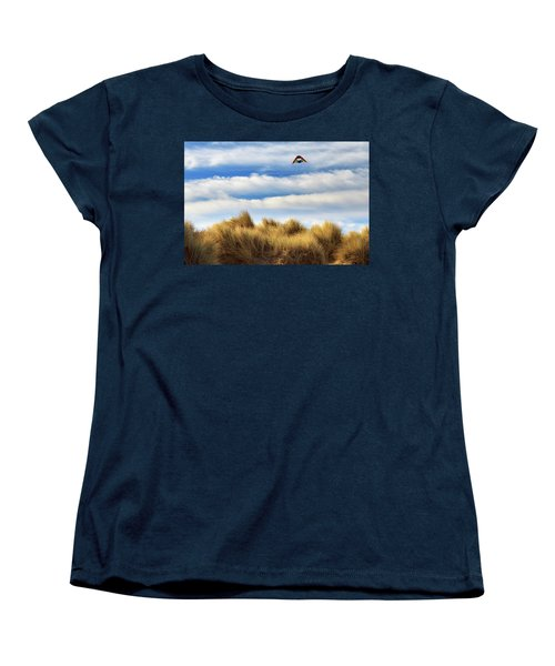 Women's T-Shirt (Standard Cut) featuring the photograph Kite Over The Hill by James Eddy