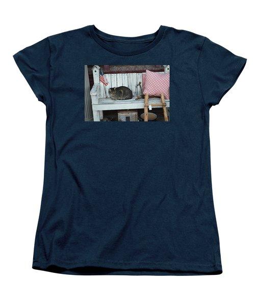 Women's T-Shirt (Standard Cut) featuring the photograph Kitty The Antique Dealer by Carolina Liechtenstein