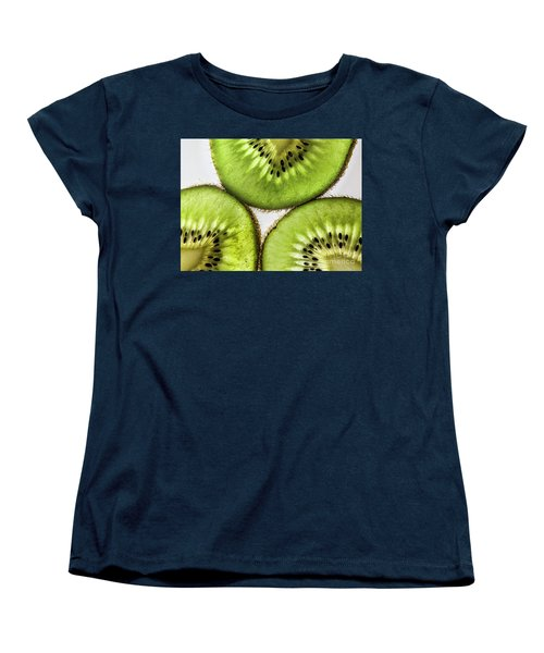 Kiwi Women's T-Shirt (Standard Cut) by Shirley Mangini
