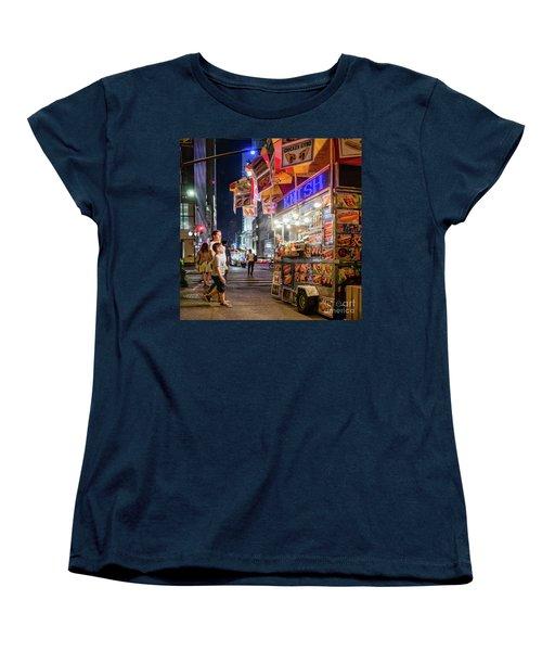 Knish, New York City  -17831-17832-sq Women's T-Shirt (Standard Cut) by John Bald