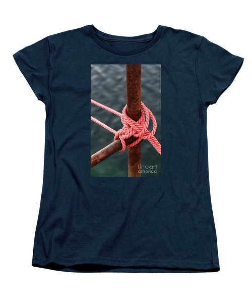 Women's T-Shirt (Standard Cut) featuring the photograph Knot On My Warf IIi by Stephen Mitchell