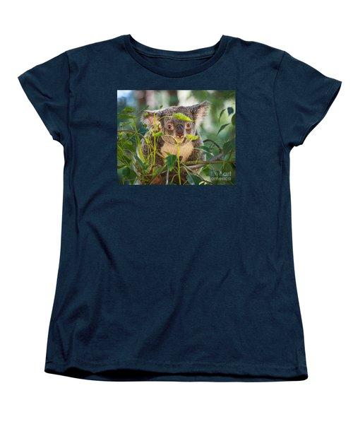 Koala Leaves Women's T-Shirt (Standard Cut) by Jamie Pham